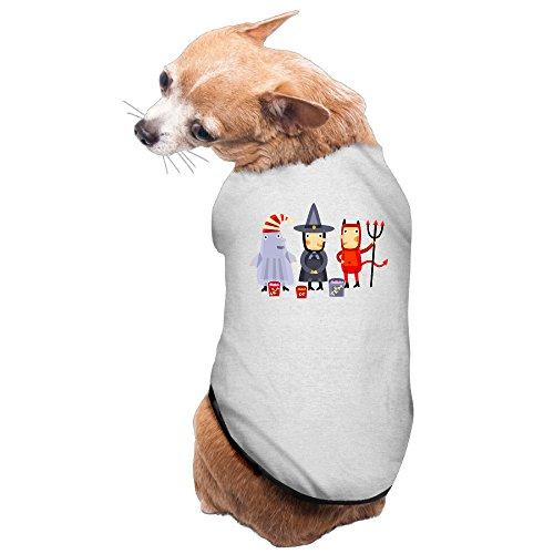 MEGGE Halloween Cool Puppies And Dog Tee Gray S