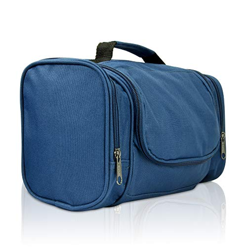 DALIX Travel Toiletry Kit Accessories Bag, Navy Blue from DALIX
