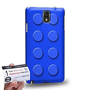 Case88 [Samsung Galaxy Note 3] 3D impresa Carcasa/Funda dura para & Tarjeta de garantía - Art Fashion Blue Building Blocks
