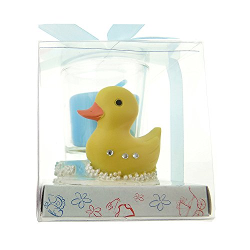 Homeford Rubber Ducky Votive Candle Favor, 2-1/2-Inch (Light Blue)