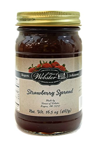 House of Webster Strawberry - No Sugar Added - 100% Fruit Spread 16.5 oz