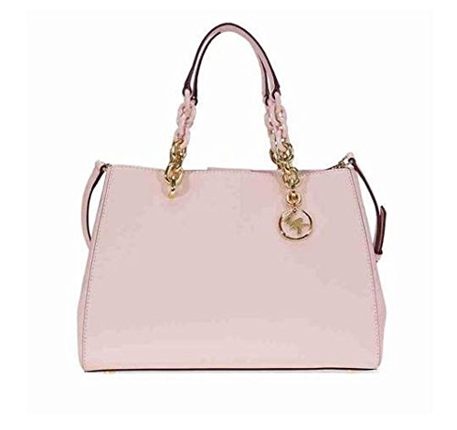 Michael Kors Cynthia Saffiano Leather Satchel - Soft - Pink Kors Michael