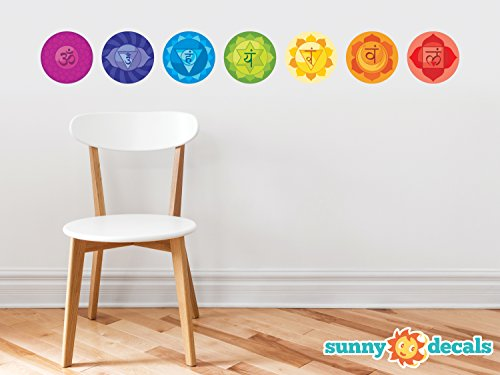 Chakras Energy Centers Fabric Wall Decals - Set of 7 Health