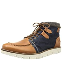 Kaporal Mens Macy Suede And Leather Lace-Up Boots