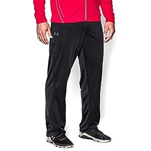 Under Armour Men's Relentless Warm-Up Pants – Straight Leg, Black /Graphite, Medium