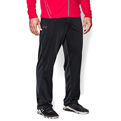 Under Armour Men's Relentless Warm-Up Pants – Straight Leg, Black/Graphite, X-Large by Under Armour (Image #4)
