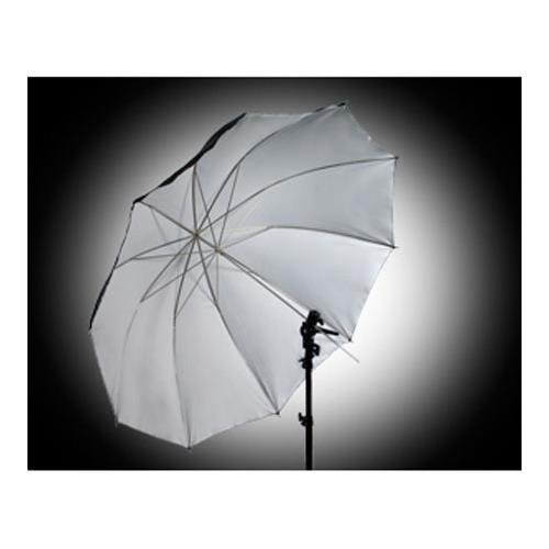 Interfit Photographic INT289 60-Inch Satin Umbrella with Removable Black Cover for Lighting - White