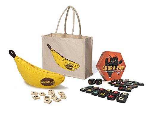 (Bananagrams + Cobra Paw + Tote Bag - Bananagrams Family Games Bundle )