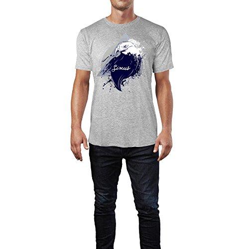 SINUS ART ® Adler im Street Style Herren T-Shirts in hellgrau Fun Shirt mit tollen Aufdruck
