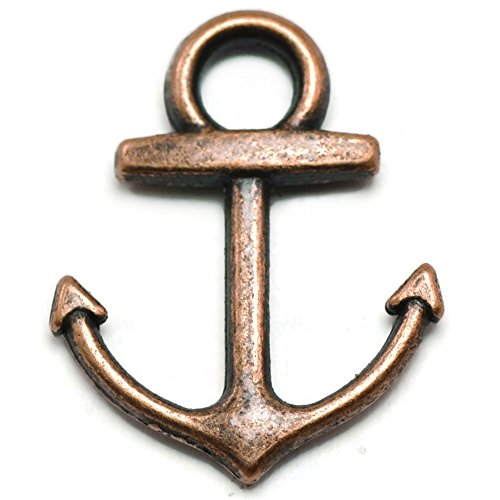 20 Anchor Charms copper tone ()