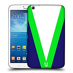 Head Case Designs V-Neck Colour Blocking Hard Back Case for Samsung Galaxy Tab 3 8.0