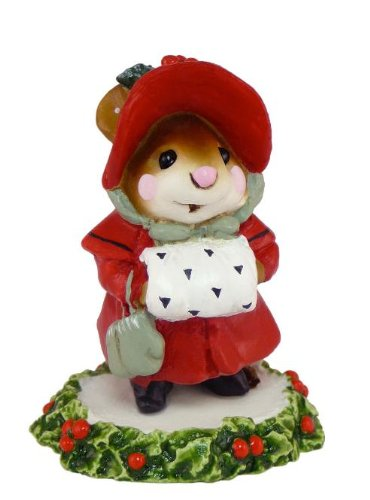 Wee Forest Folk Miss Noel Christmas Mouse made in Massachusetts