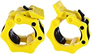 1 Pair Barbell Clamps Collars Weightlifting Clips Professional Olympic Weight Barbell Locks Collar Clips with