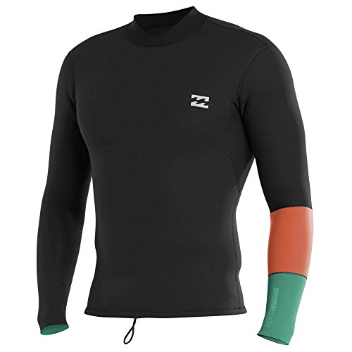 Reversible Wetsuit - Billabong Men's Revolution Shifty 2Mm Reversible Wetsuit Jacket Off Black Small