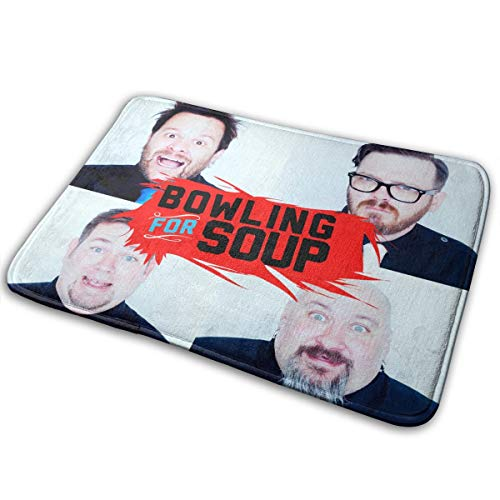 KshsDigu Bowling for Soup Mat Non-Slip Bathroom Mats Bathroom Rug Doormat Indoor Carpet Door Mat Floor Pads (The Very Best Of Bowling For Soup)