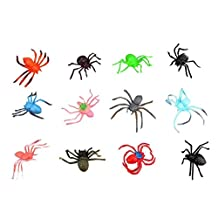 Assorted 12 Kinds of Spiders Home/Party Tricky Toys
