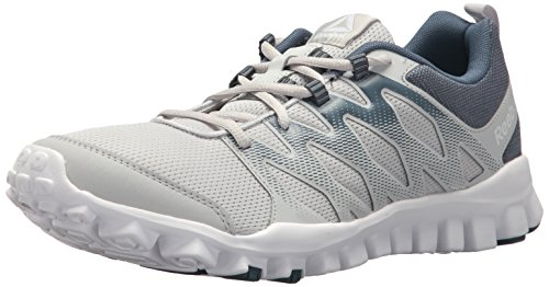 Reebok Men's Realflex Train 4.0 Sneaker, Skull PAYNES Grey/Solid Teal, 15 M ()