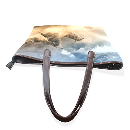 COOSUN - Bolso de tela para mujer muticolour L(33x45x13)cm