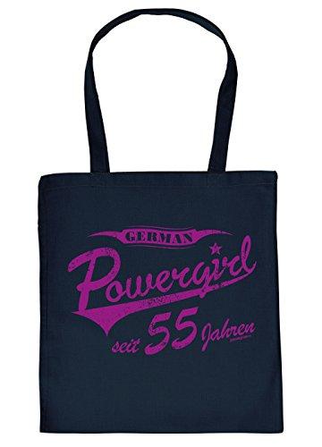 zum 55. Geburtstag Geschenk Stofftasche German Powergirl seit 55 Jahren Baumwolltasche Geschenkidee zum 55 Geburtstag 55 Jahre für Oma für Opa