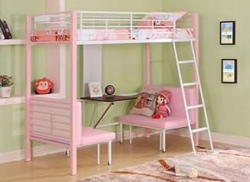 Etagenbett Pink : Etagenbett hochbett levin buche massiv natur inkl vorhang prinz