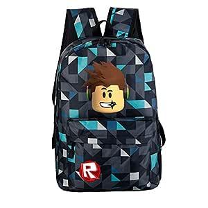 Cartoon Printed Teenagers Roblox Game Oxford Backpack Student Schoolbag for Boys Girls Kids Children Bookbag Leisure Satchel Travel Shoulder Bags