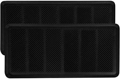 SafetyCare Rubber Shoe Boot Tray – Multi-Purpose – 32 x 16 Inches – 2 Mats
