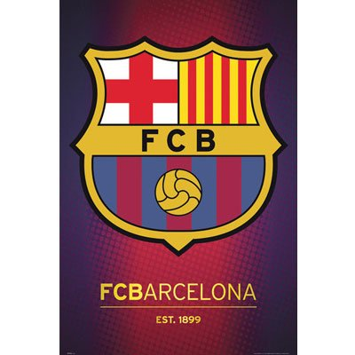 FC Barcelona Club Crest Poster 24 x 36in