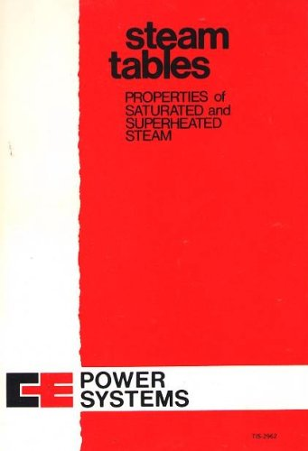 Steam Tables : Properties of Saturated and Superheated Steam