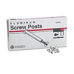 Post Binder Aluminum Screw Posts, 3/16\