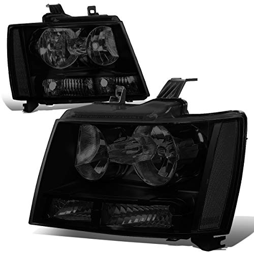 For Chevy Tahoe/Suburban/Avalanche 1500 2500 Pair of Smoked Lens Clear Corner Headlight