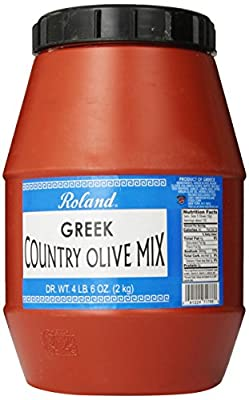 Roland Olives, Greek Country Mix, 4.6 Pound