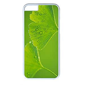Green Plant Design PC White Case for Iphone 6 - Light Green