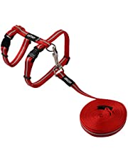 Rogz Alleycat Cat Harness and Lead, Red Small