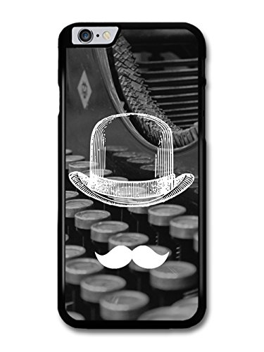Cool Funny Cute Moustache Bowler Hat Typewriter case for iPhone 6 Plus 6S Plus