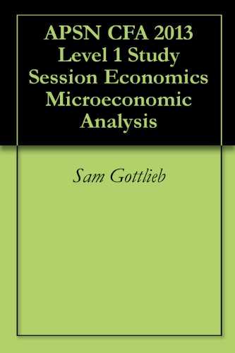 APSN CFA 2013 Level 1 Study Session Economics Microeconomic Analysis