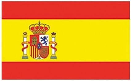 FahnenMax Bandera de España con Escudo, Formato de la Bandera: 150x 90cm, Resistente a la Intemperie, Multicolor, 150x 90x 1cm