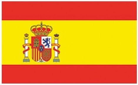 FahnenMax Bandera de España con Escudo, Formato de la Bandera: 150 x 90 cm, Resistente a la Intemperie, Multicolor, 150 x 90 x 1 cm: Amazon.es: Jardín