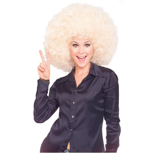 Rubie's Costume Super Size Blond Afro Wig, Yellow, One Size (Disco Costumes For Kids)