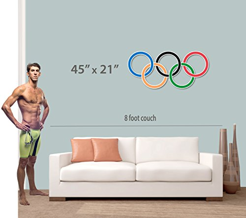 3mm Sintra PVC Plastic Printed Olympic Rings Wall Sign Party Decorations- 45