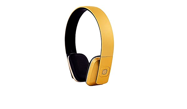 ECHOS Auriculares Audifonos con Bluetooth Inalambricos en AMARILLO Yellow para Apple iPhone 7 iPhone 7 plus iPhone4 4S iPhone5 5S iPhone 6 6+ iPhone Plus ...