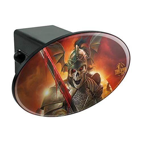 Graphics and More Undead Skeleton Knight Warrior Fantasy Oval Tow Hitch Cover Trailer Plug Insert 2
