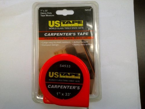 Tape 54533 1 inch by 33 foot Carpenters Measuring Tape U.S