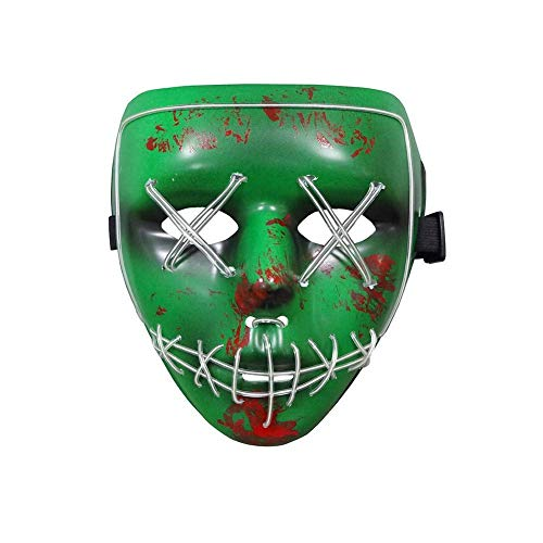 Alioo Halloween Scary LED Light up Purge Mask