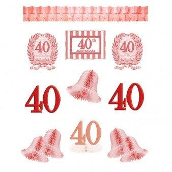 40th Wedding Anniversary Decorating Kit