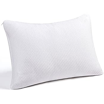 SWTMERRY Memory Foam Pillow, Queen Size Pillows for Sleeping Adjustable Loft Firm Thickness Shredded Hypoallergenic Headrest Cushion Soft Comfortable