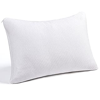 Pillows for Sleeping, Shredded Memory Foam Pillow King Size Adjustable Firmness Hypoallergenic Headrest Cushion for Travel / Home / Hotel Collection Washable Removable Cooling Bamboo Derived Rayo