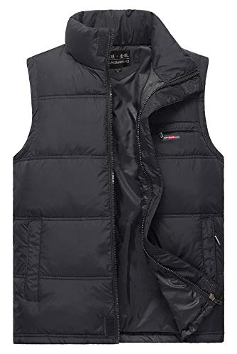 Cold Thicken Down Winter 01 Vest Men's Waterproof and Warm Resistant Vest Style Jacket Waistcoats KINDOYO nURqYBwxpn