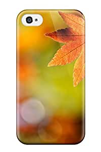 Cute Tpu Brooullivan Autumn Leaves Case Cover For Iphone 4/4s