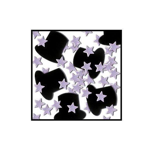 Beistle Fanci Fetti Stars 1 Ounce Silver