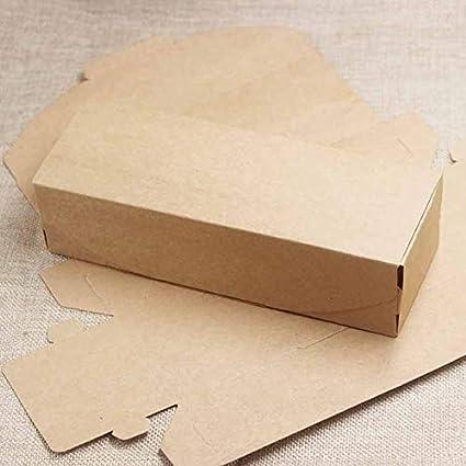 Amazon.com: OBELLA BOUTIQUE 10pcs caja DIY Kraft/negro ...
